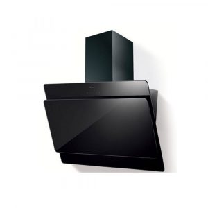 Faber Cocktail Angled Black Glass Extractor Hood 80cm