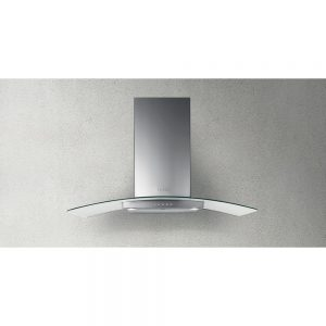 Faber Ray Curved Glass Extractor Hood Stainless Steel 900mm