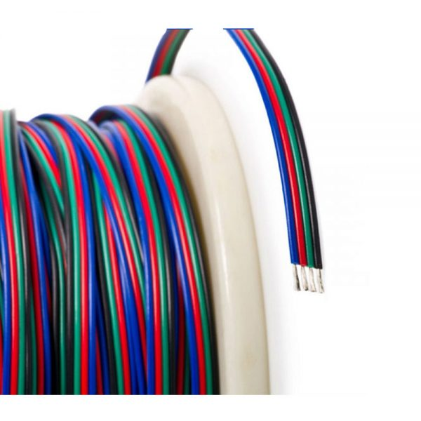 4 Core Cable RGB LED Strip 4 x 0.32mm (Meter)