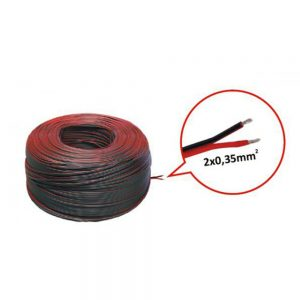 LED Strip 2 Core Cable 2 x 0.35mm Red/Black (Meter)