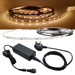 5M Roll LED strip Package Kit Warm White
