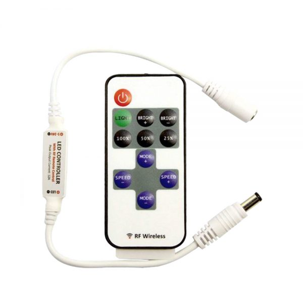 XE RF Remote Control Dimmer for Single Colour Flexible LED strip 1x6A (72W)