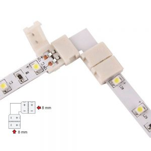 90° Corner 8mm Connector for 2 Pin LED Strip