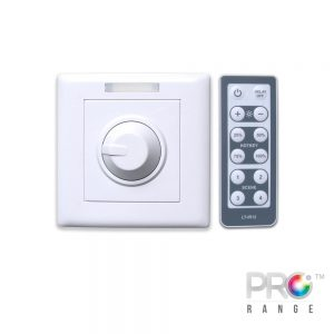 XE LT Series Wall Mount Dimmer for Single Colour LED Strip with IR Remote