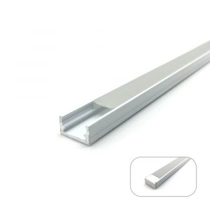 White Mini U-Line Aluminum Profile, 2 Meters