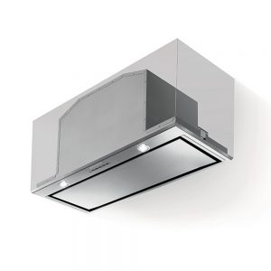Faber Inca Lux Black Glass Canopy Extractor Hood 700mm