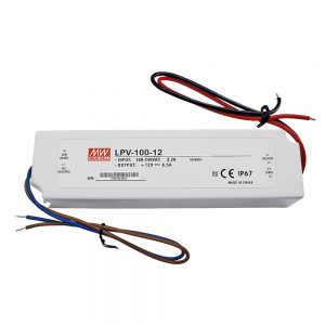 Mean Well LPV 100W, 12V DC Switching LED Power Supply / Driver