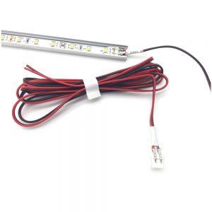 2 Meter Profile 8mm LED strip Power Lead - 12V 3A Power Lead