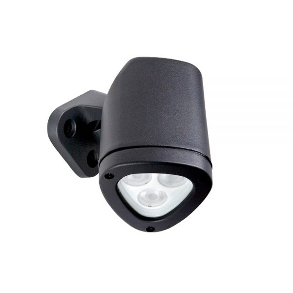 Robus APEX 4.5W LED wall or spike light, Dark Gray