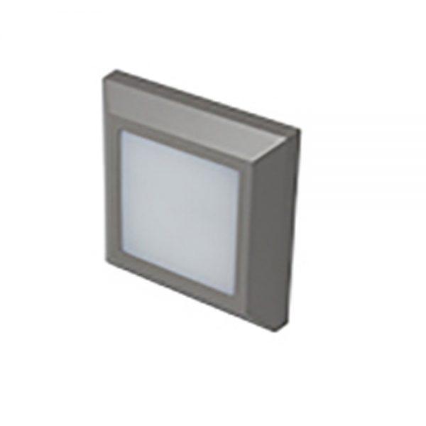 Robus TWILIGHT 3W LED square wall light, IP65, Grey, 3000K
