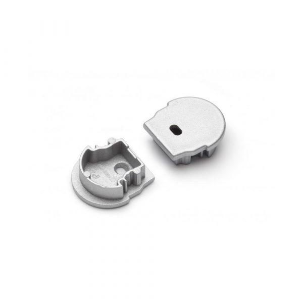 UNI12 LED Profile Grey Curved End Caps