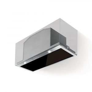 Faber Inca Lux Black Glass Canopy Extractor Hood