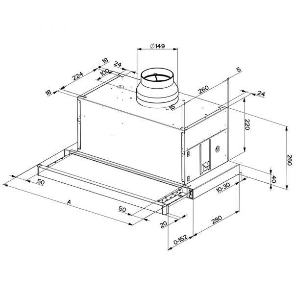 Faber-Maxima-Telescopic-Extractor-Hood-Dimension
