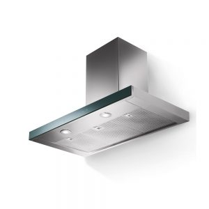 Faber Look Box Chimney Extractor Hood S/Steel & Glass 900mm