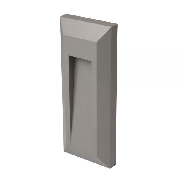 Robus TWILIGHT 1W LED rectangular wall light, Grey