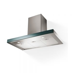 Faber Stilux Box Chimney Extractor Hood S/Steel & Glass 900mm