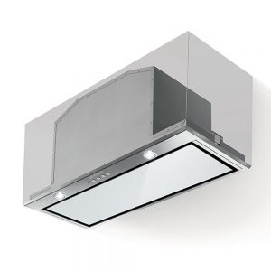 Faber Inca Lux White Glass Canopy Extractor Hood 520mm