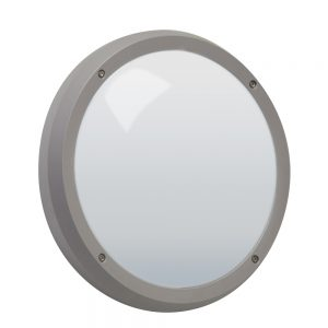 Robus VEGA 14W LED bulkhead, Grey (Microwave Sensor)