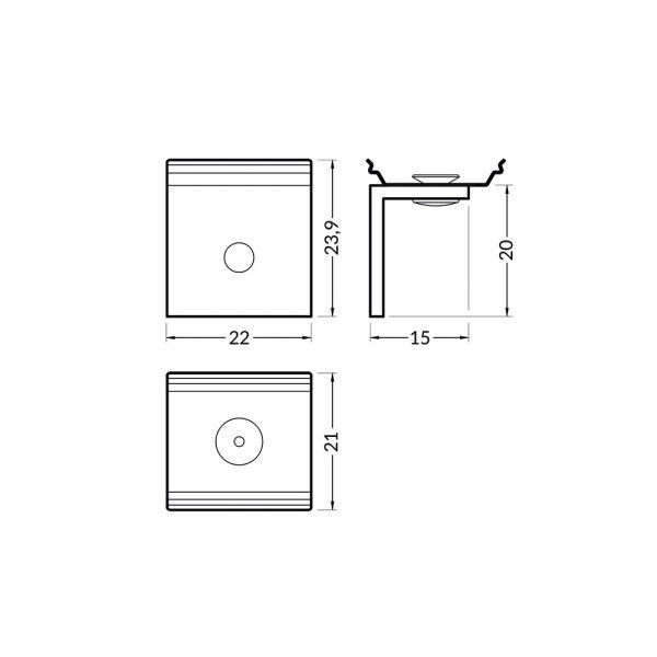 Side U5 Mounting Brackets Dimension