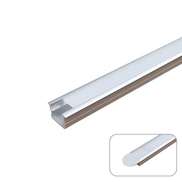 Recessed U-Line Aluminum Profile, 2 Meters