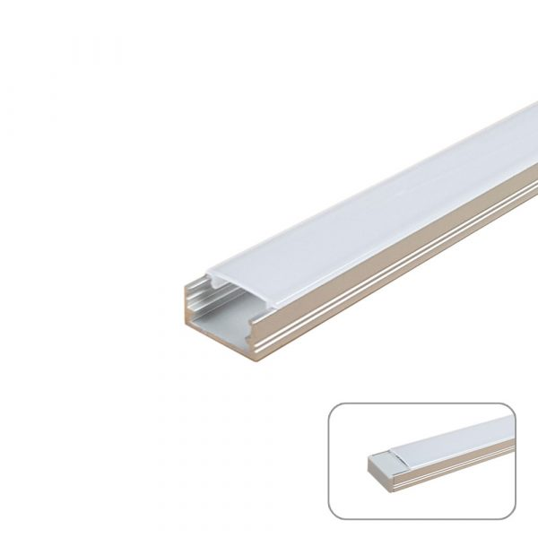 U-Line Midi Aluminum Profile, 2 Meters