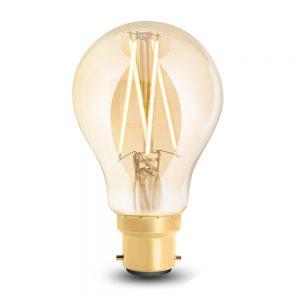 Wiz Wifi BC/B22 Filiamnet LED Tunbale White with amber tinted glass