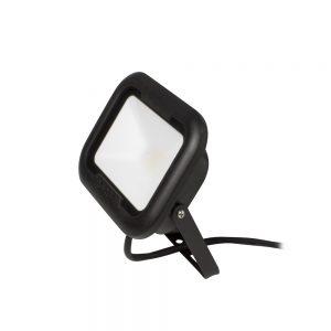 REMY 10W LED flood light, IP65, Black, 3000K, c/w junction box