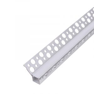 U-Line Plaster 90 Aluminium Profile Opal, 2 Meters