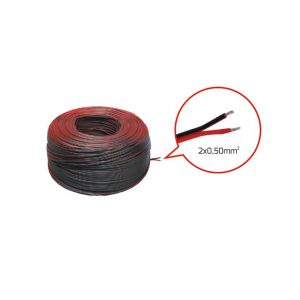 LED Strip 2 Core Cable 2 x 0.50mm Red/Black (Meter)