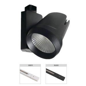 Robus Tram 35W LED Track Spot, Black
