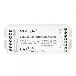 MI-Light-PA5 Amplifier LED Strip lighting RGB RGBW RGB CCT