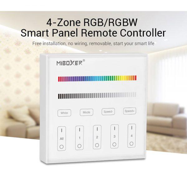 Mi-Light 4-Zone RGB/RGBW Smart Panel Remote Controller