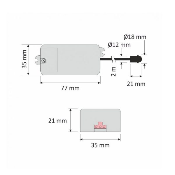 LED-PIR-Sensor-230V-Dimensions