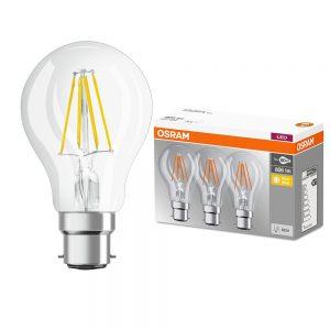 Osram-Filamnet-3PK-B22-Clear-GLS-LED