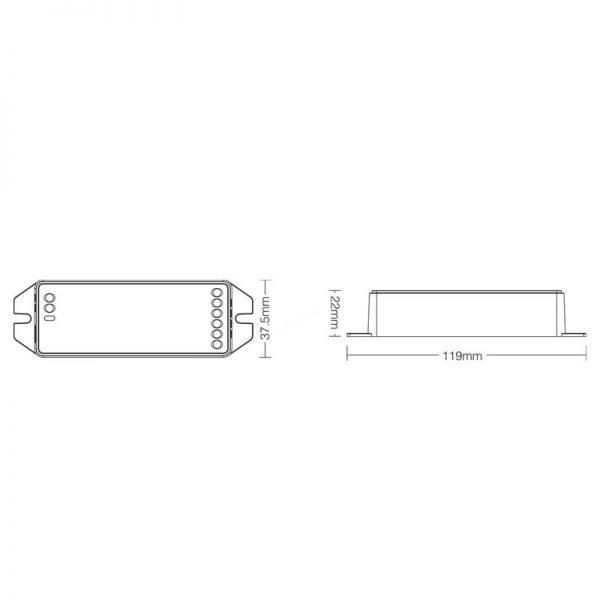 Mi-light-FUT039-Dimensions