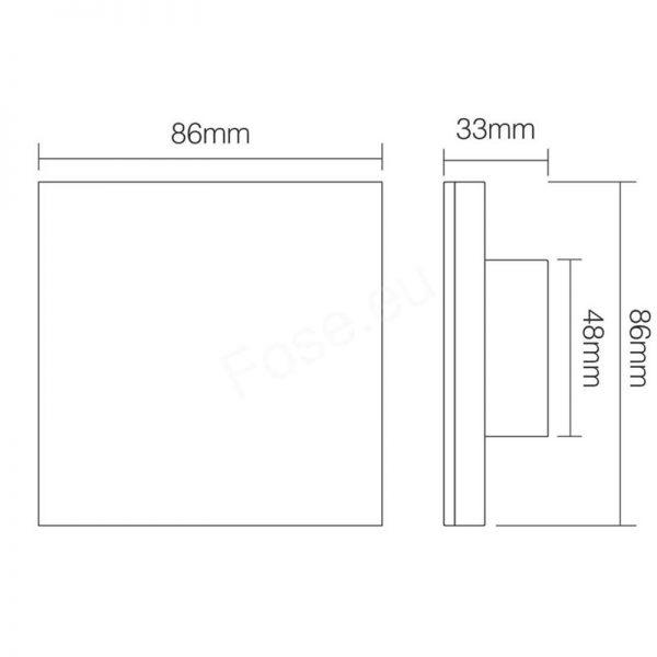 Mi-Boxer 4-Zone Mains CCT Smart Wall Panel