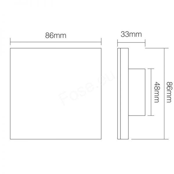 Mi-Light 4-Zone Mains RGB+CCT Smart Wall Panel