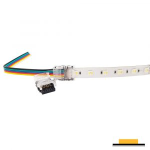 Splice Strip to Wire Connector IP20, RGB+CCT 6 Pin