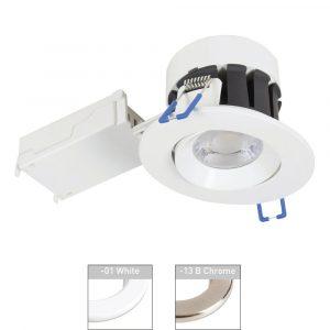 Robus CAVAN 6.5W CCT3 Dimmable Downlight, Tilt
