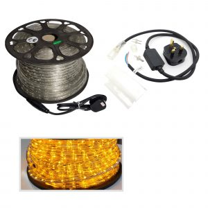 LED Rope Light Yellow, 50m Roll