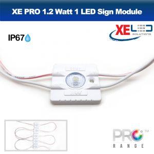 XE PRO 1.2W Slim LED Sign Module IP67 12V Cool White