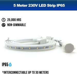 2 Meters 230V LED Strip IP65 Outdoor - RGB Colour Change