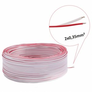 LED Strip 2 Core Cable 2 x 0.35mm Red/White (Meter)