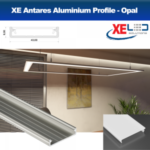 Antares Suspension Aluminium LED Profile with Opal Diffuser (2 Mtrs)