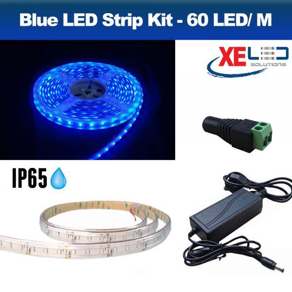 5M Blue IP45 LED Strip Light, DIY Value Kit