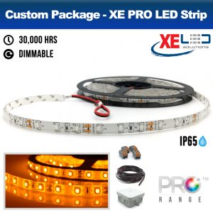 XE PRO 5M Amber LED Strip Package IP65 Kit