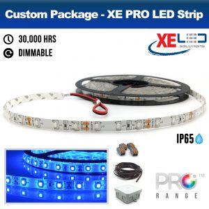 XE PRO 5M BLUE IP65 LED Strip Package Kit
