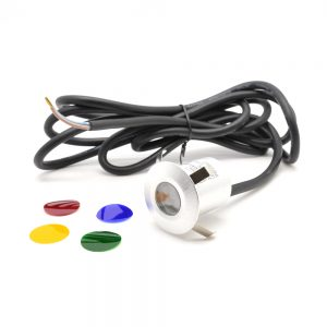 Eclipse 230/240V 6 LED 40mm Decking Light with Colour filters