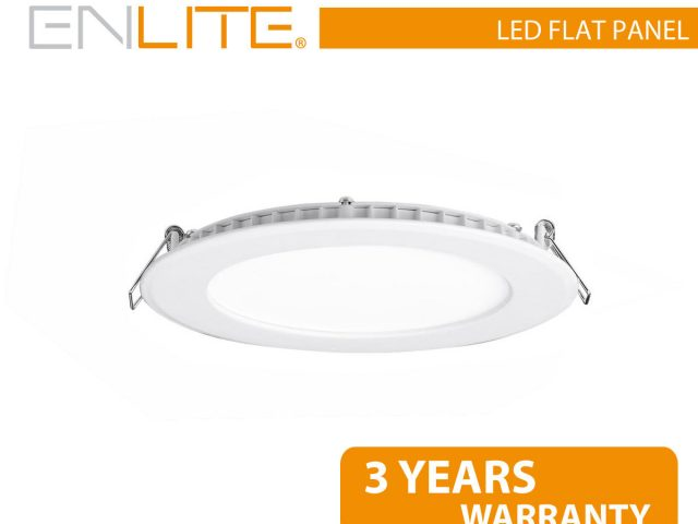 12W LED Round Panel Downlight Ultra Low Profile Cool White 780LM Dia 300mm