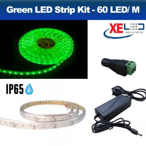 5M Green IP45 LED Strip Light, DIY Value Kit